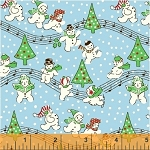 Storybook Christmas 41752-4 Blue Singing Snowmen by Windham