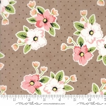 Olive's Flower Market 5030-16 Taupe Nosegay by Lella Boutique for Moda