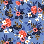 Les Fleurs 8003-01 Periwinkle Birch by Rifle Paper Co for Cotton + Steel