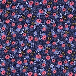 Les Fleurs 8004-02 Navy Rosa by Rifle Paper Co for Cotton + Steel