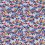 Les Fleurs 8004-03 Periwinkle Rosa by Rifle Paper Co for Cotton + Steel