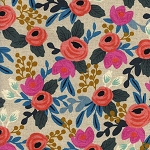 Les Fleurs 8012-12 Natural Rosa Floral CANVAS by Cotton + Steel