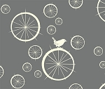 Avalon BF-05 Grey Birdie Spokes by Birch Fabrics