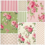 Barefoot Roses 8 Fat Quarter Set by Tanya Whelan for Free Spirit