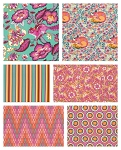 Chipper 6 Fat Quarter Set in Sorbet by Tula Pink for Free Spirit