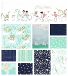Magic 11 Fat Quarter Set in Aqua by Sarah Jane for Michael Miller