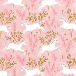 Magic MD7190 Blossom Unicorn Forest by Sarah Jane for Michael Miller
