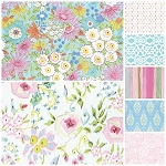 Meadow 7 Fat Quarter Set in Pink by Free Spirit