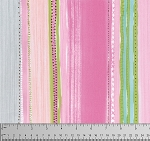 Meadow PWDF241 Pink Chamomile Stripe by Free Spirit