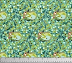 Chipper PWTP080 Mint Fox Nap by Tula Pink for Free Spirit