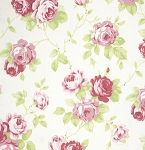 Lulu Roses PWTW092 White Lulu by Tanya Whelan for Free Spirit
