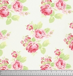 Lola PWTW104 White Lola Roses by Tanya Whelan for Free Spirit