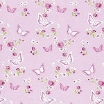 Zoey's Garden PWTW118 Pink Butterfly Floral by Free Spirit