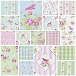 Zoey's Garden 18 Fat Quarter Set by Tanya Whelan for Free Spirit