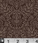 Toomuchery 881 Z Brown Damask by EOB .5 yd