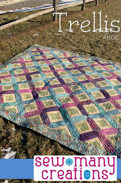 Trellis quilt pattern by sew many creations for Garden trellis designs quilt patterns