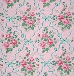Veranda PWVM069 Blush Ribbons & Roses by Free Spirit EOB