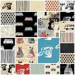 Vintage Scrapbook 23 Fat Quarter Set by Benartex