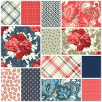 Vintage Verona 13 Fat Quarter Set by Emily Taylor for Riley Blake