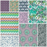 Violette 9 Fat Quarter Set in Flourish by Amy Butler for Free Spirit