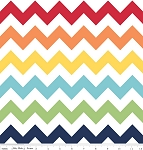 "Medium Chevron Wideback 108"" WB320-01 Rainbow by Riley Blake"