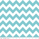 "Medium Chevron Wideback 108"" WB320-20 Aqua by Riley Blake"
