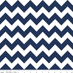 "Medium Chevron Wideback 108"" WB320-21 Navy by Riley Blake"