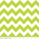 "Medium Chevron Wideback 108"" WB320-32 Lime by Riley Blake"