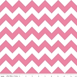 "Medium Chevron Wideback 108"" WB320-70 Hot Pink by Riley Blake"