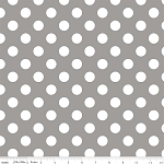 "Medium Dot Wideback 108"" WB360-40 Gray by Riley Blake"