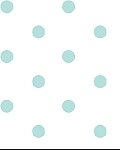 Wild Daisy 044505-9B Aqua Dots on White by Benartex EOB FQ