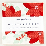 Winterberry Charm Pack by Kate & Birdie for Moda