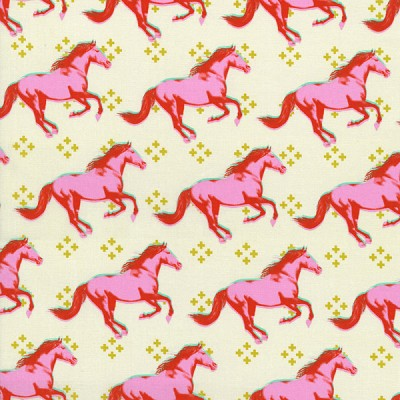 Mustang 0003-001 Pink Mustang by Melody Miller for Cotton + Steel