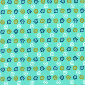 Mustang 0007-002 Aqua Daisies by Melody Miller for Cotton + Steel