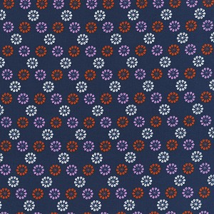 Mustang 0007-003 Navy Daisies by Melody Miller for Cotton + Steel