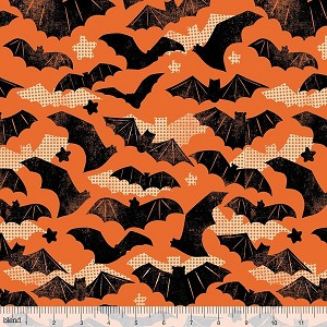 Spooktacular Eve 101.107.02.1 Orange Gone Batty by Blend