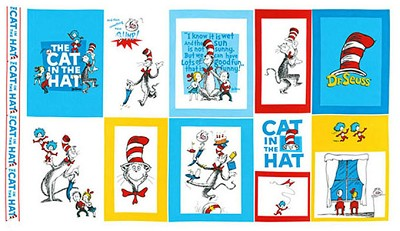 The Cat in the Hat by Dr. Seuss 10798-203 Panel by Robert Kaufman