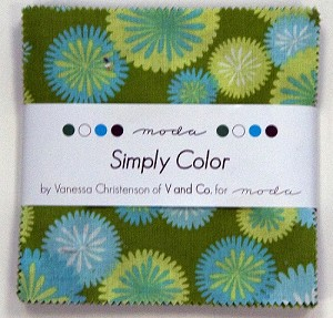 Simply Color Charm Pack by V & Co for Moda