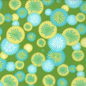 Simply Color 10803-18 Lime Green Mod Blossoms by V & Co for Moda EOB