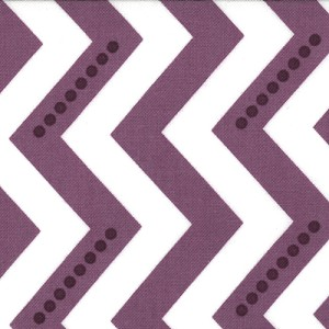 Simply Color 10804-15 White Eggplant Dotted Zig Zag by V & Co/Moda