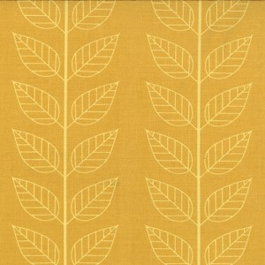 Simply Color 10805-17 Mustard Leafy Stripe by V & Co for Moda