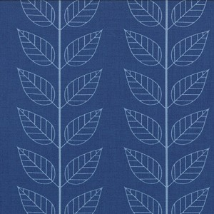 Simply Color 10805-20 Navy Blue Leafy Stripe by V & Co for Moda