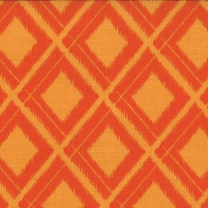 Simply Color 10806-16 Sweet Tangerine Ikat Diamonds by V & Co for Moda