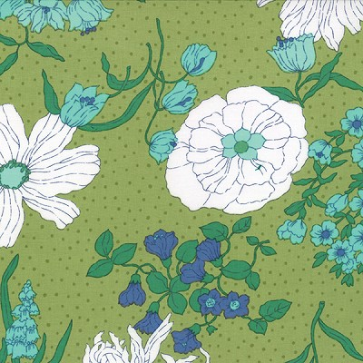 Color Me Happy 10820-15 Lime Flower Garden by V & Co for Moda EOB