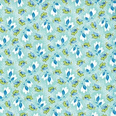 Color Me Happy 10821-13 Teal Bouquet by V & Co for Moda