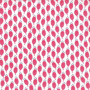 Color Me Happy 10822-12 Pink Sprouts by V & Co for Moda