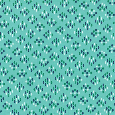 Color Me Happy 10824-13 Teal Cluster Drops by V & Co for Moda