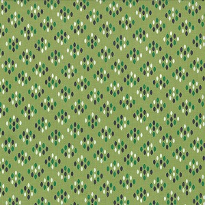Color Me Happy 10824-15 Lime Cluster Drops by V & Co for Moda