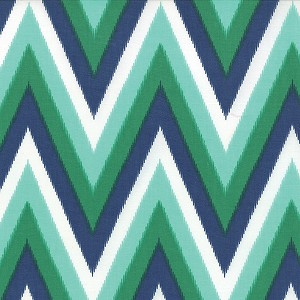 Color Me Happy 10828-11 Navy Emerald Ikat Chevron by V & Co for Moda