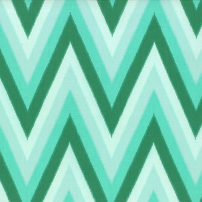 Color Me Happy 10828-13 Emerald Ikat Chevron by V & Co for Moda